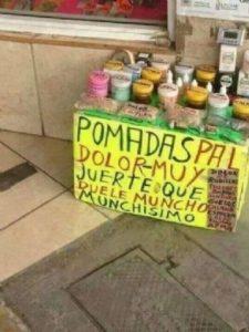 CARTELES GRACIOSOS - POMADAS MÁGICAS