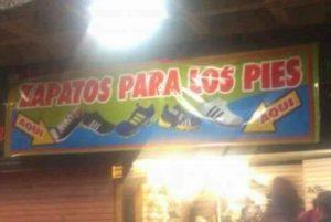 CARTELES GRACIOSOS - ZAPATOS PARA PIES
