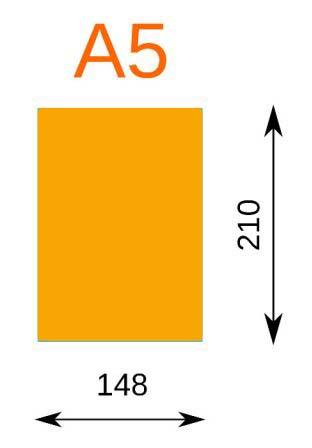 medida formato din a5