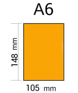 medida del formato Din A6